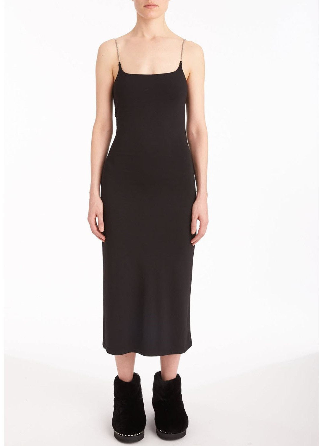 T by Alexander Wang cami dress with chain straps black