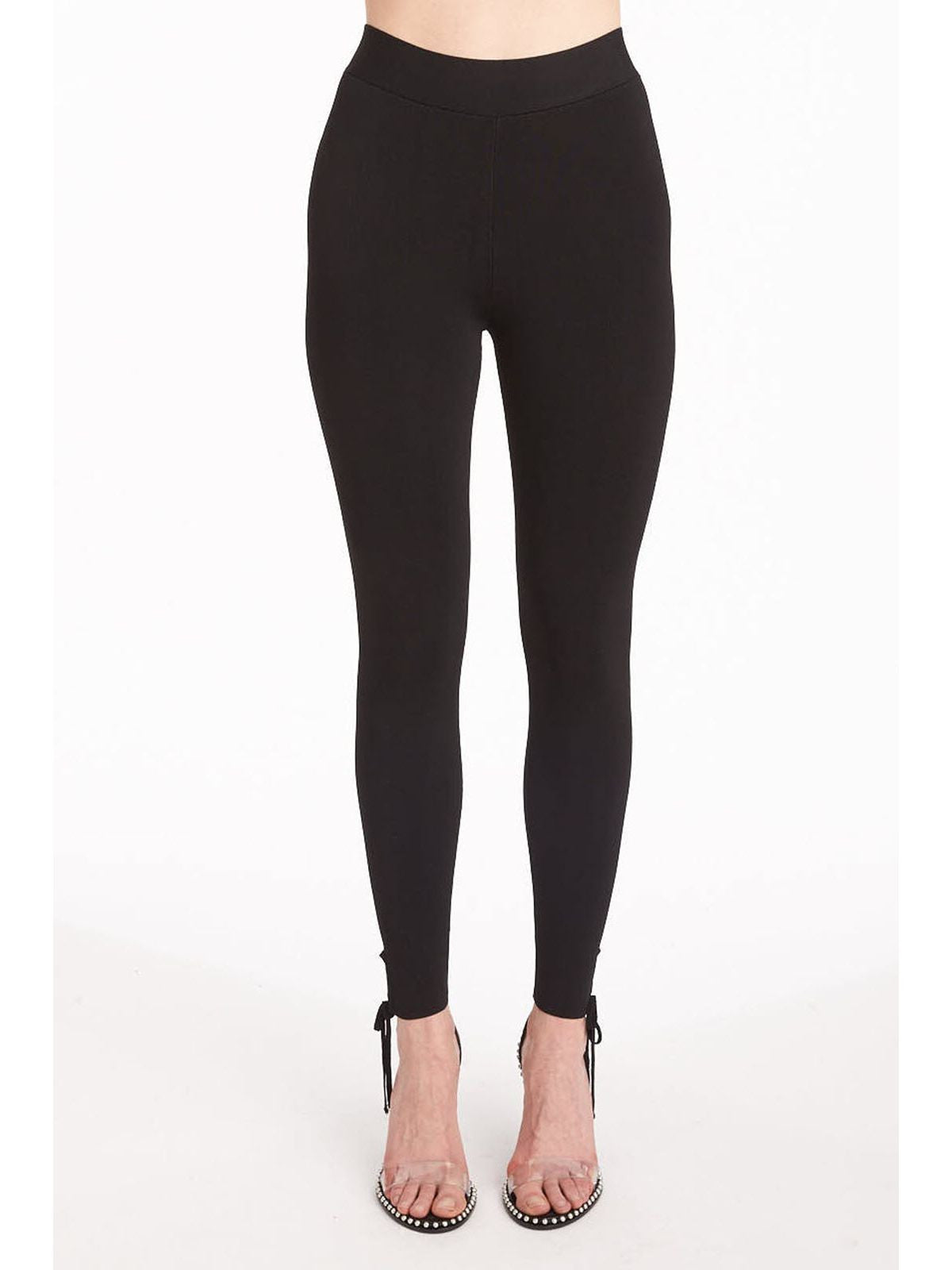 T by Alexander Wang leggings with tie detail black
