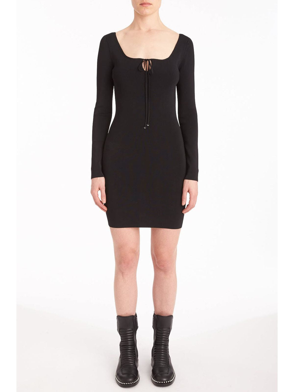 T by Alexander Wang longsleeve mini dress black