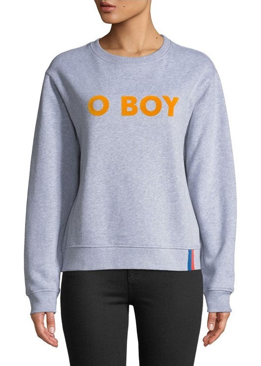 Kule The raleigh O Boy sweatshirt in grey