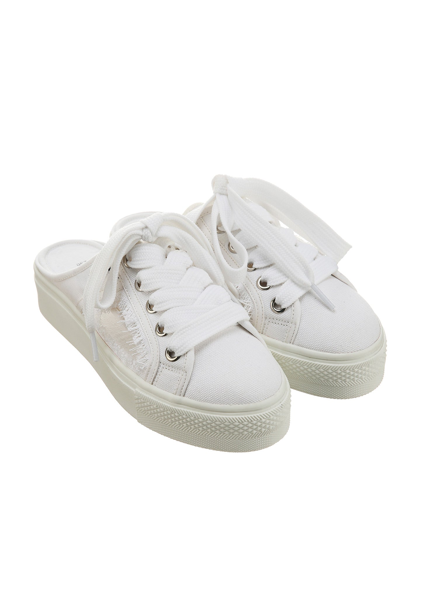 SJYP CUT OFF MULE SNEAKERS white
