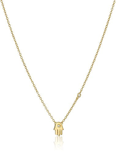 Shy by Sydney Evans Yellow gold plated Hamsa necklace