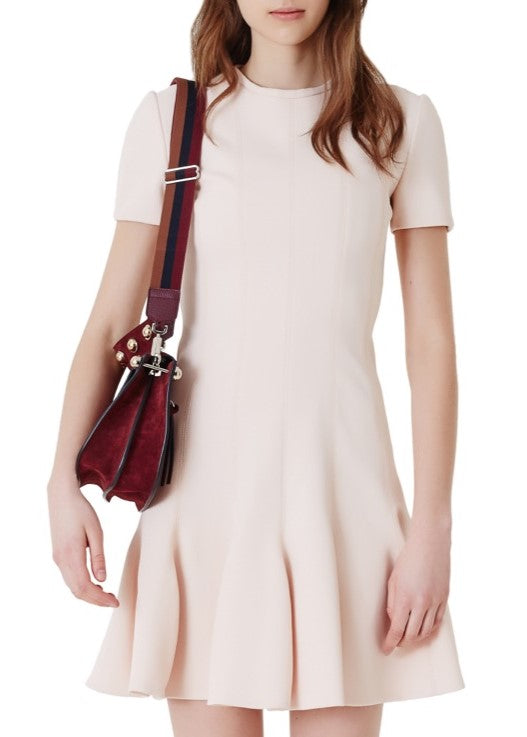 Carven shortsleeve nude dress