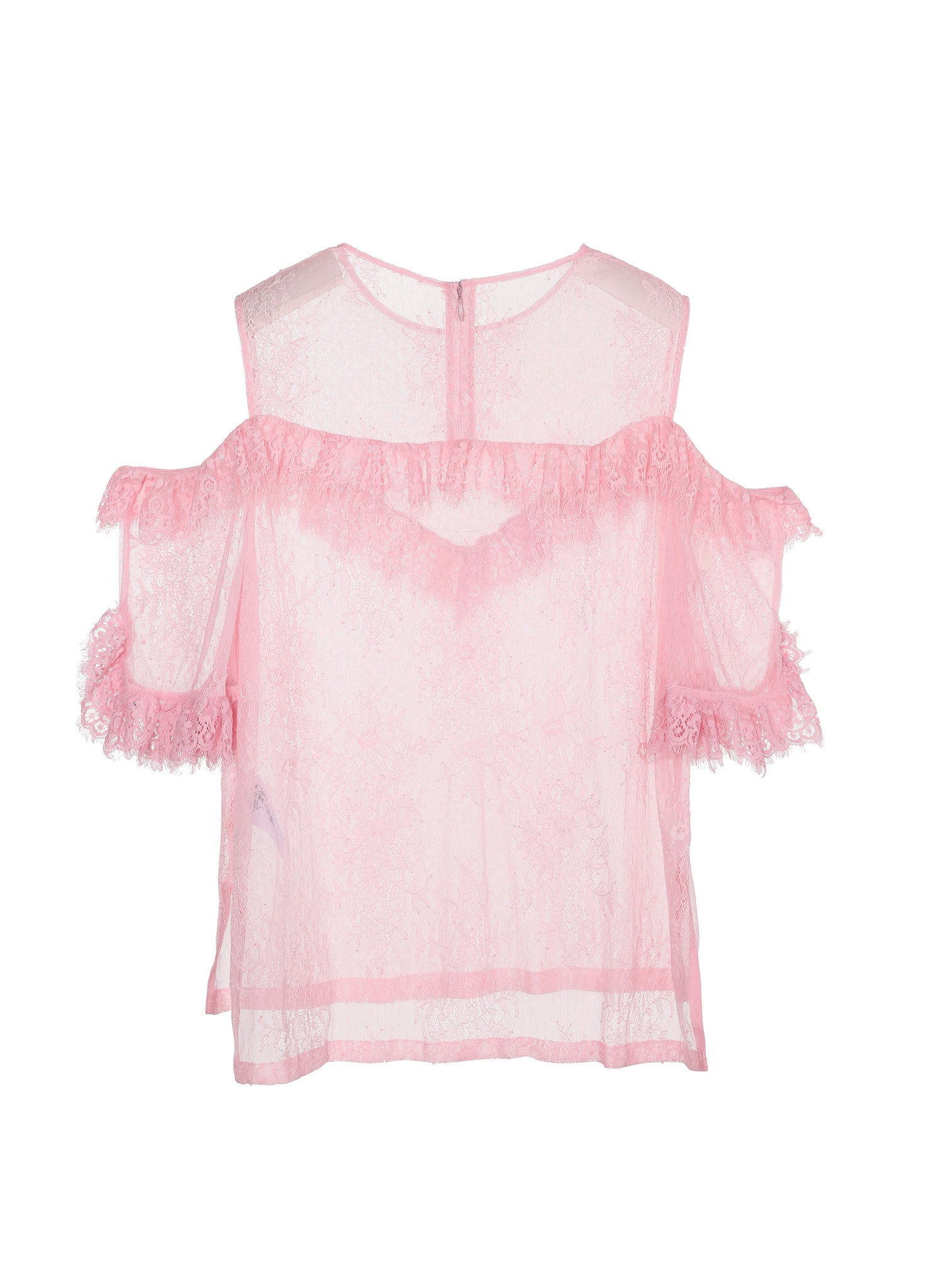 SJYP LACE SEE-THRU TOP pink