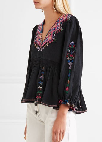 Ulla Johnson maja blouse black