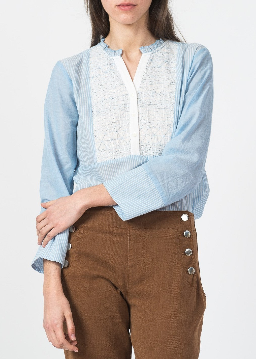 Indi & Cold stripe blouse blue