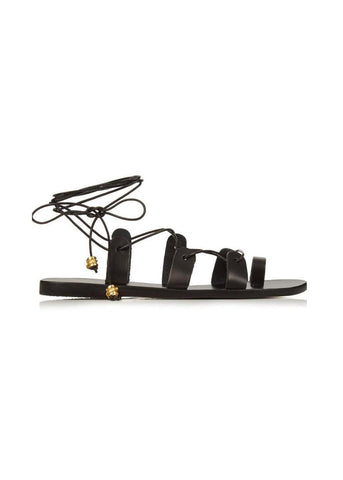 Ancient Greek Sandals alcyone black snake