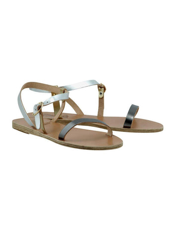 Ancient Greek Sandals niove steel silver platinum