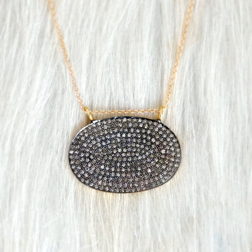 Designs by Alina PAVE CHIC with 14K chain or leather necklace