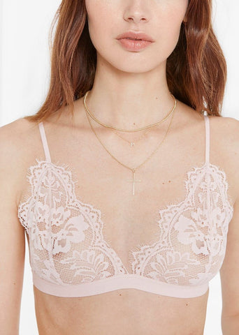 Anine Bing Floral lace bra in rose