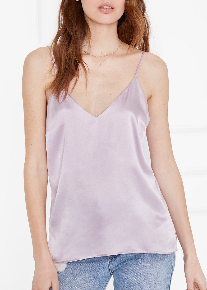 Anine Bing Gwyneth silk camisole in mauve