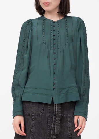 Sea Azzedine long sleeve blouse in forest