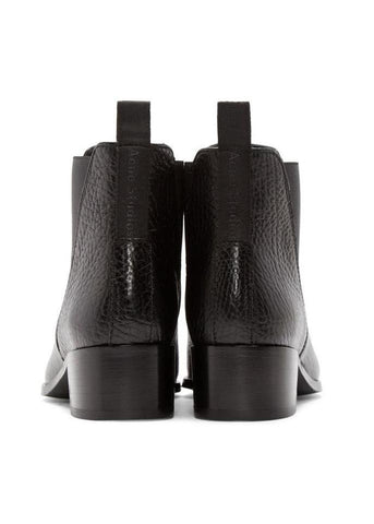 Acne Studios jensen grain leather boot black