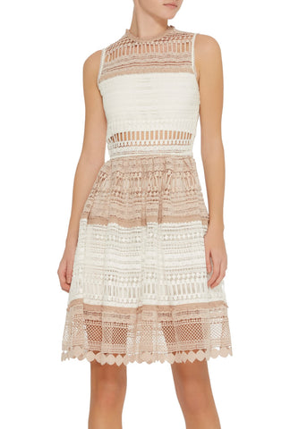 Alexis melania dress beige