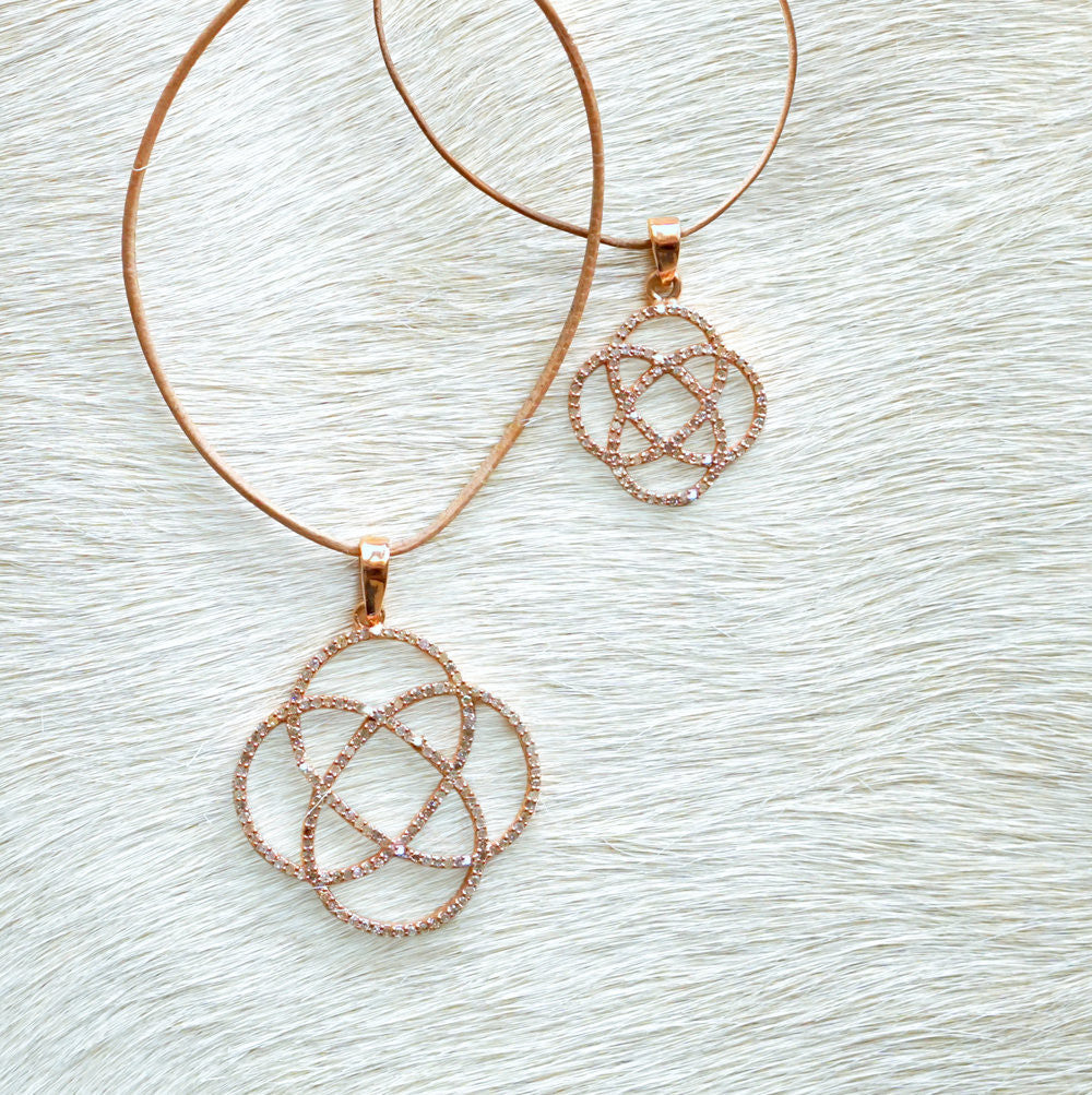 Designs by Alina adjustable loop me up necklace rose gold large