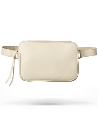 Ames Tovern leather square hip bag taupe