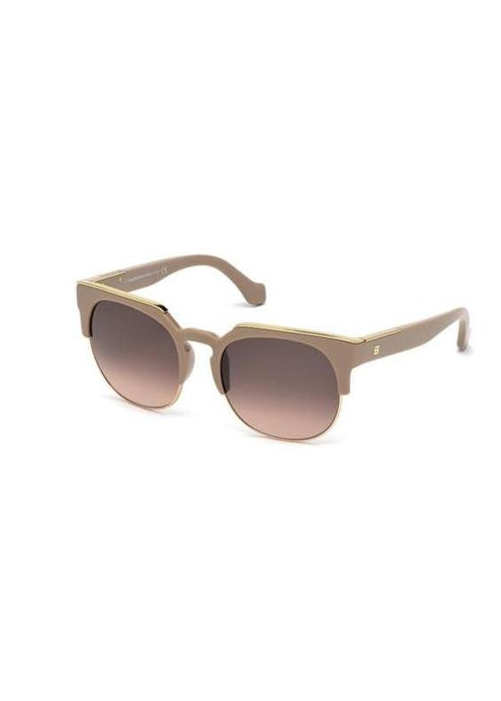 Balenciaga antique rose sunglasses with metal detail