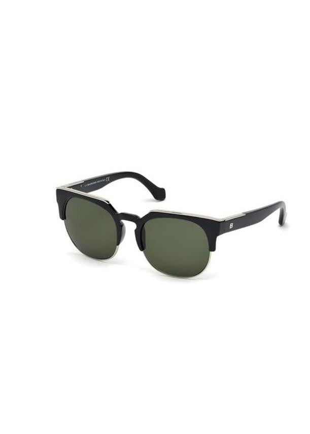 Balenciaga black sunglasses with metal detail