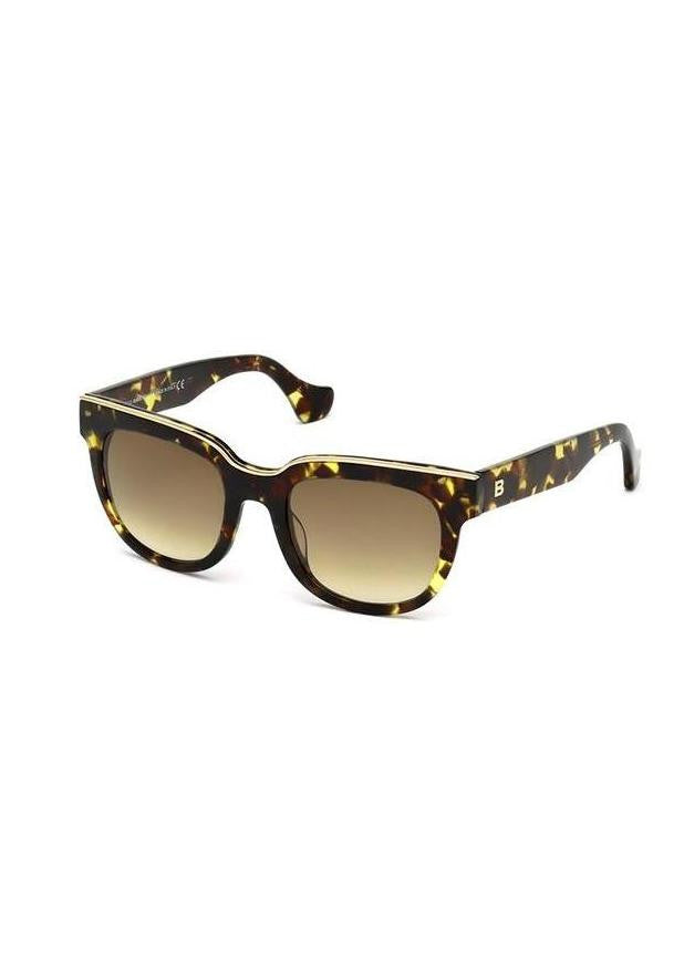 Balenciaga tortoise sunglasses with metal detail