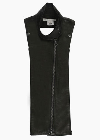 Veronica Beard leather moto dickey black