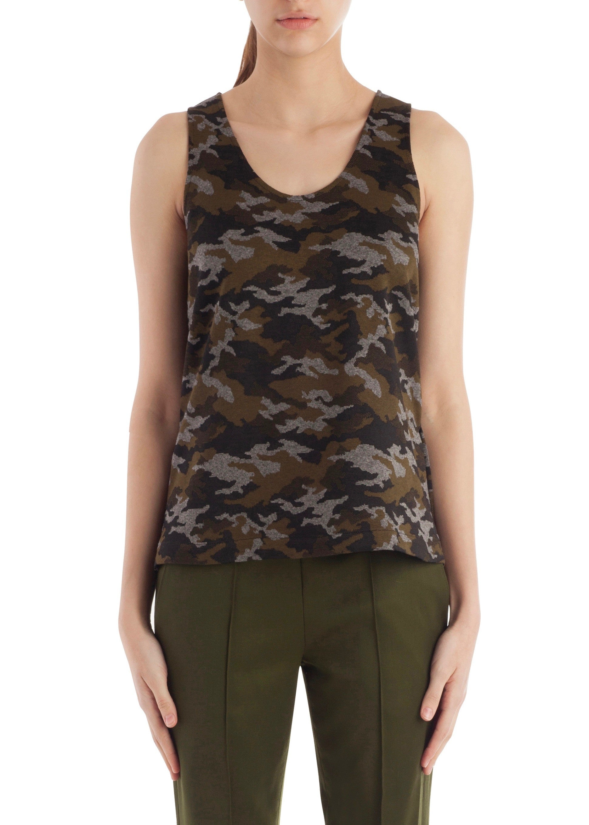 Arias tank top with vents camo