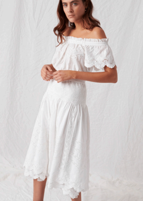 Aje Elizabeth dress in white