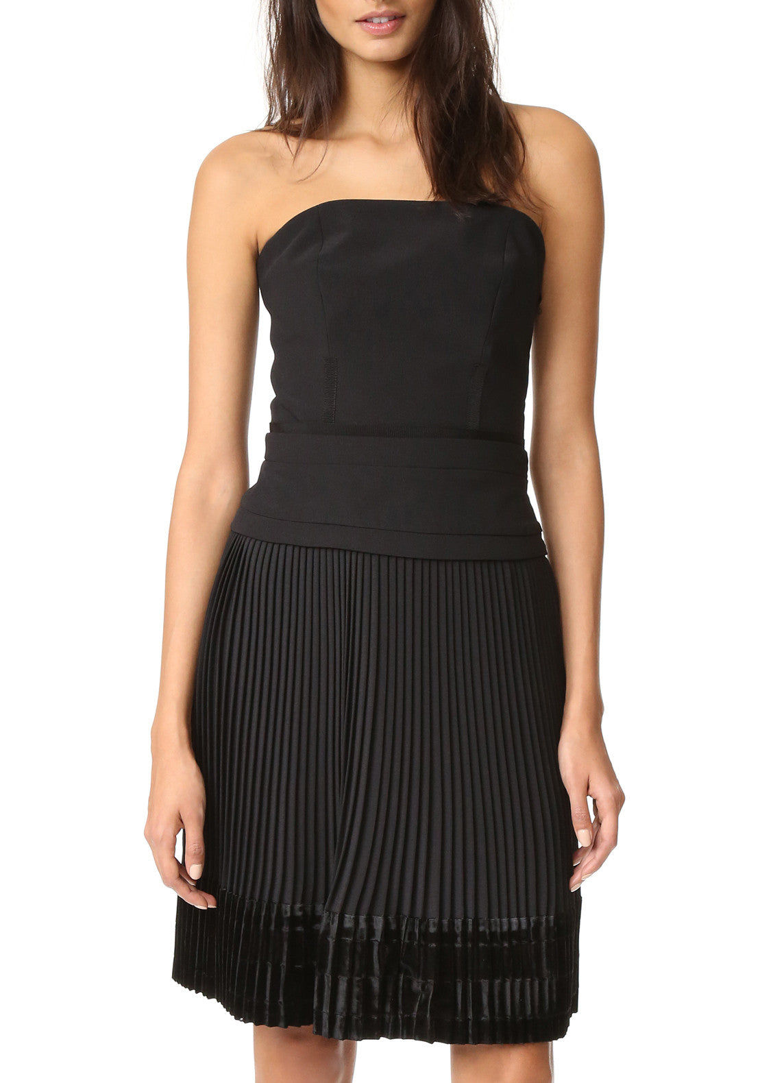 Carven strapless dress black