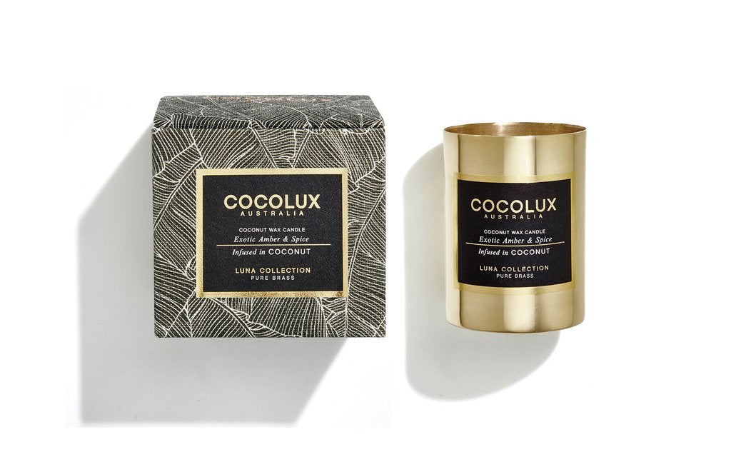 Cocolux Australia 150g brass (yellow gold color) candle