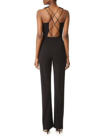 Cushnie et Ochs lace up jumpsuit black