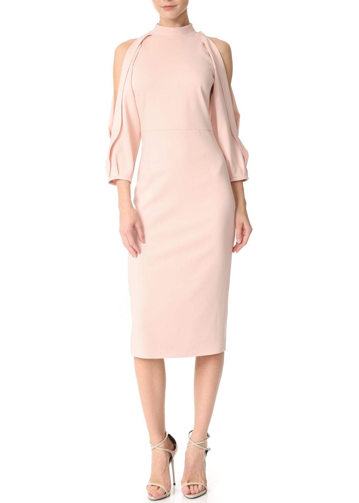Cushnie et Ochs pencil dress with open sleeves shell