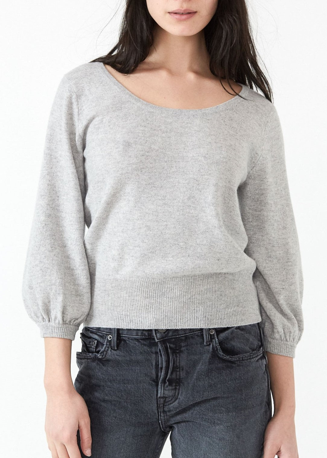 Demylee Janelle sweater in light heather grey