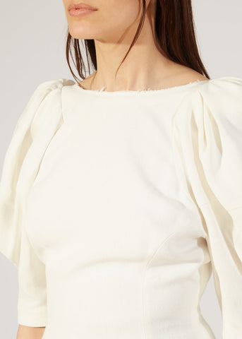 Khaite Darlene top in ivory