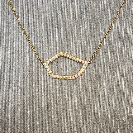 Rocks with Soul Delicate Diamond Hexagon Necklace