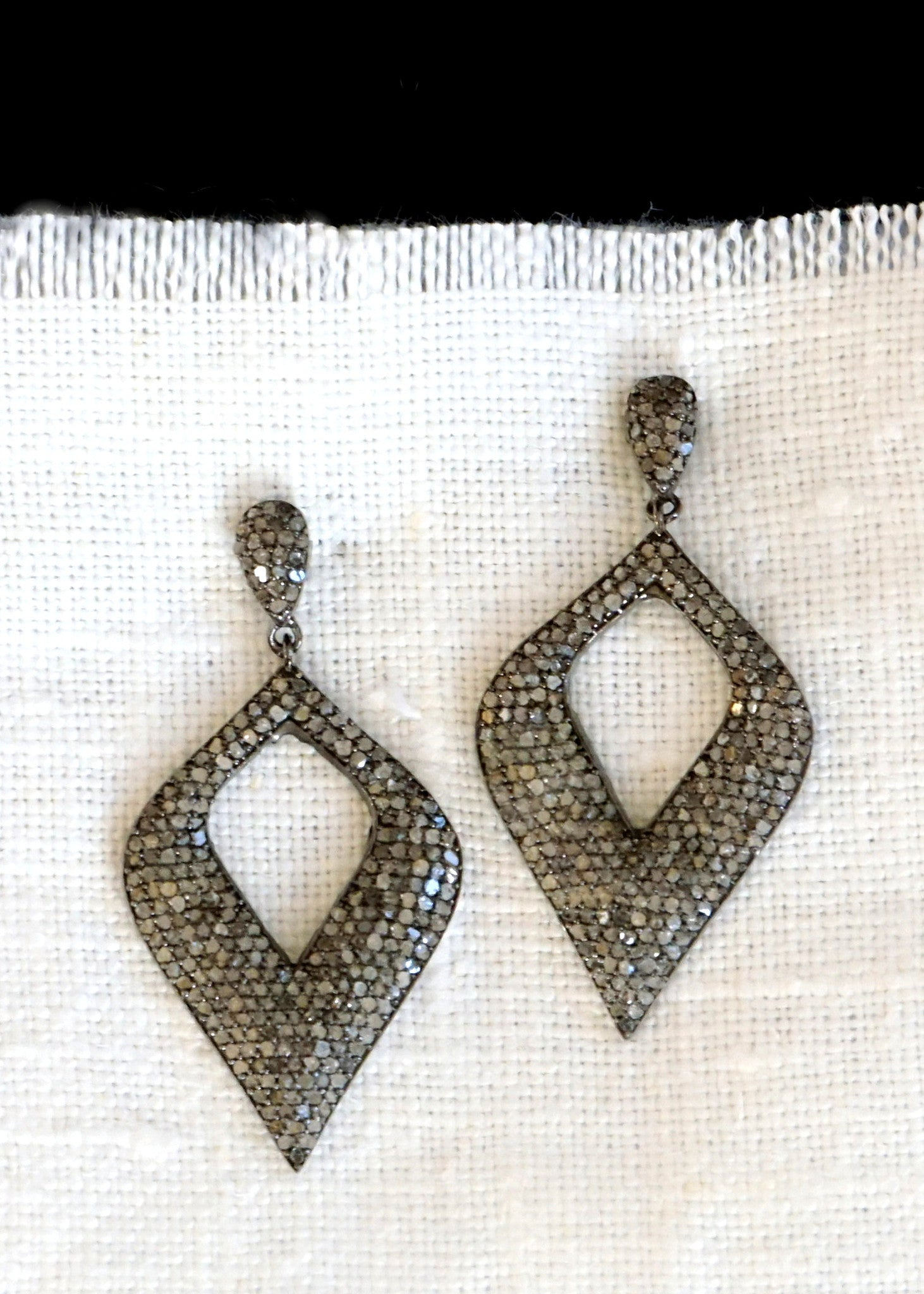 Designs by Alina diamond swoon earrings