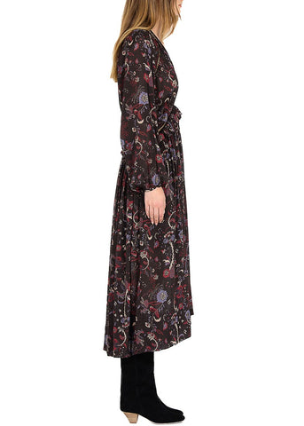 Magali Pascal drew maxi dress black phoenix
