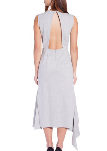 Goen.J jersey asymmetric dress grey