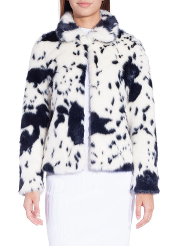 Shrimps alba dalmatian jacket cream