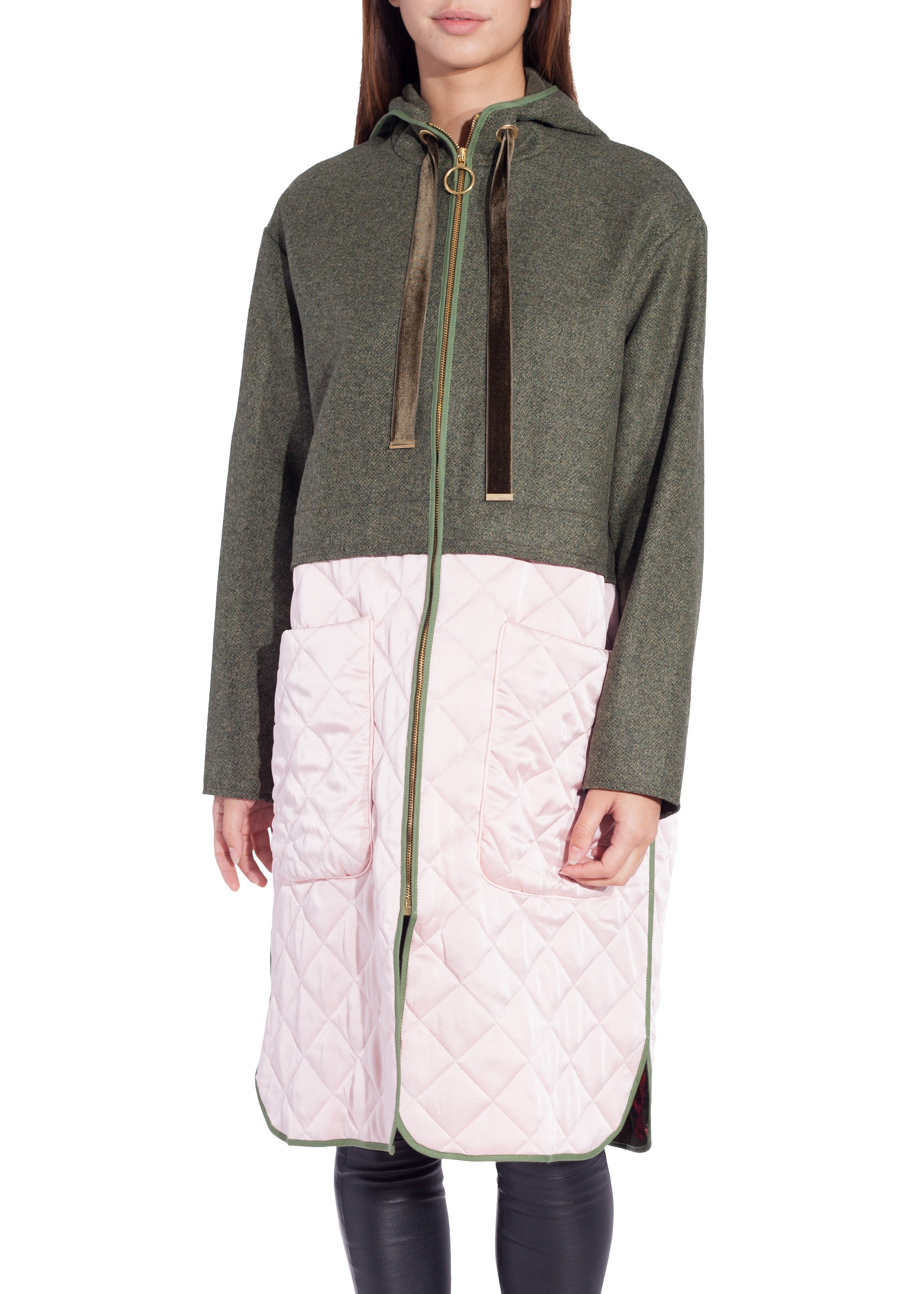 Mother of Pearl damon coat green pink