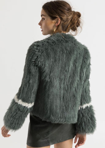 Bubish Esme jacket in duck green and cream