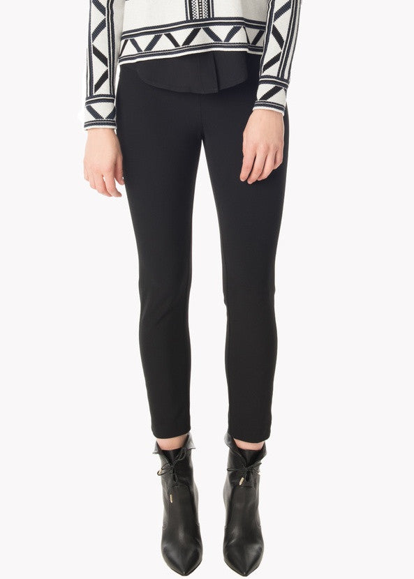 Veronica Beard calla lillies cropped legging black