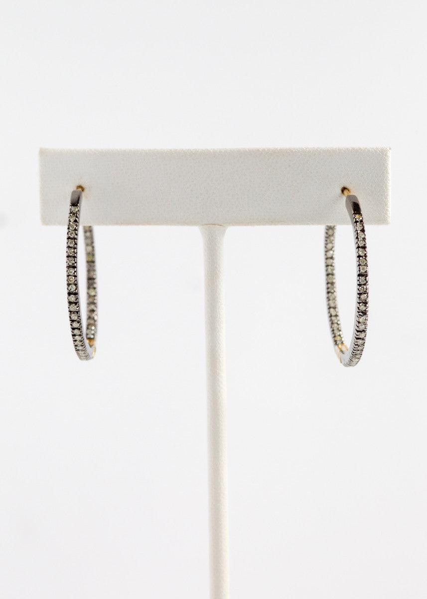 Vinesh diamond hoop earrings
