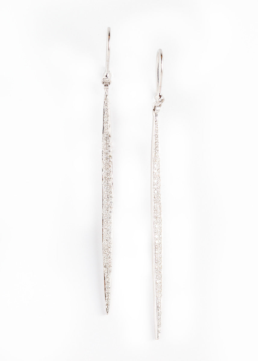 DP diamond long drop earrings 18K white gold