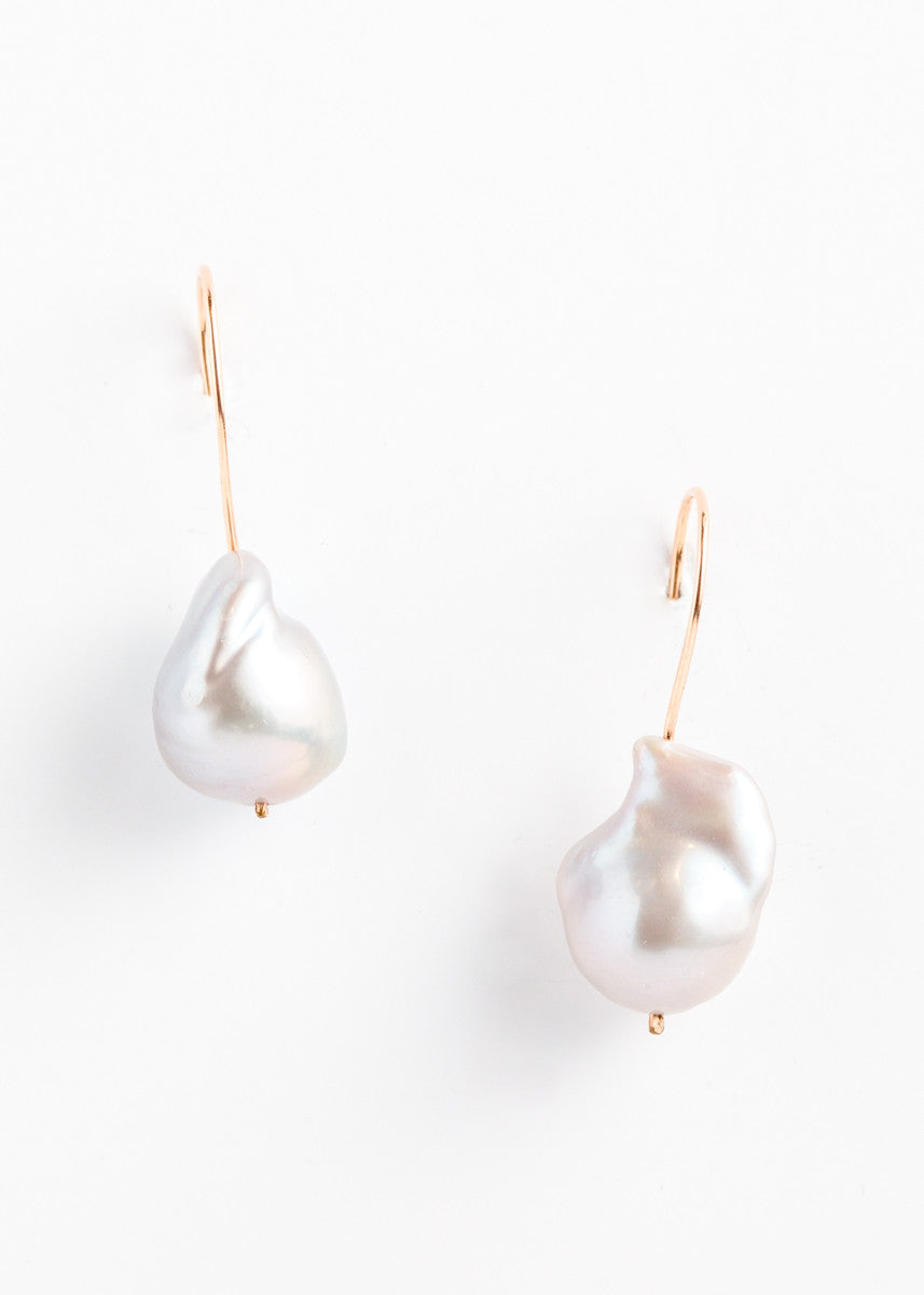 Designs by Alina rose gold filled single pearl earrings