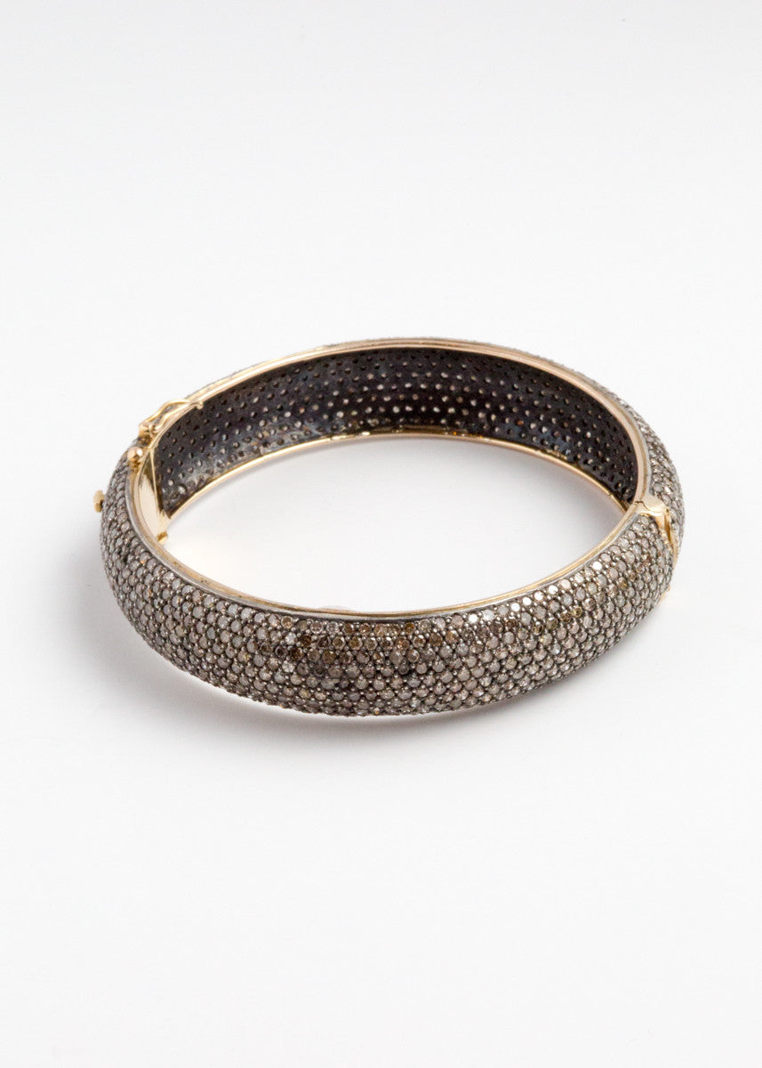 Vinesh thick pave diamond cuff