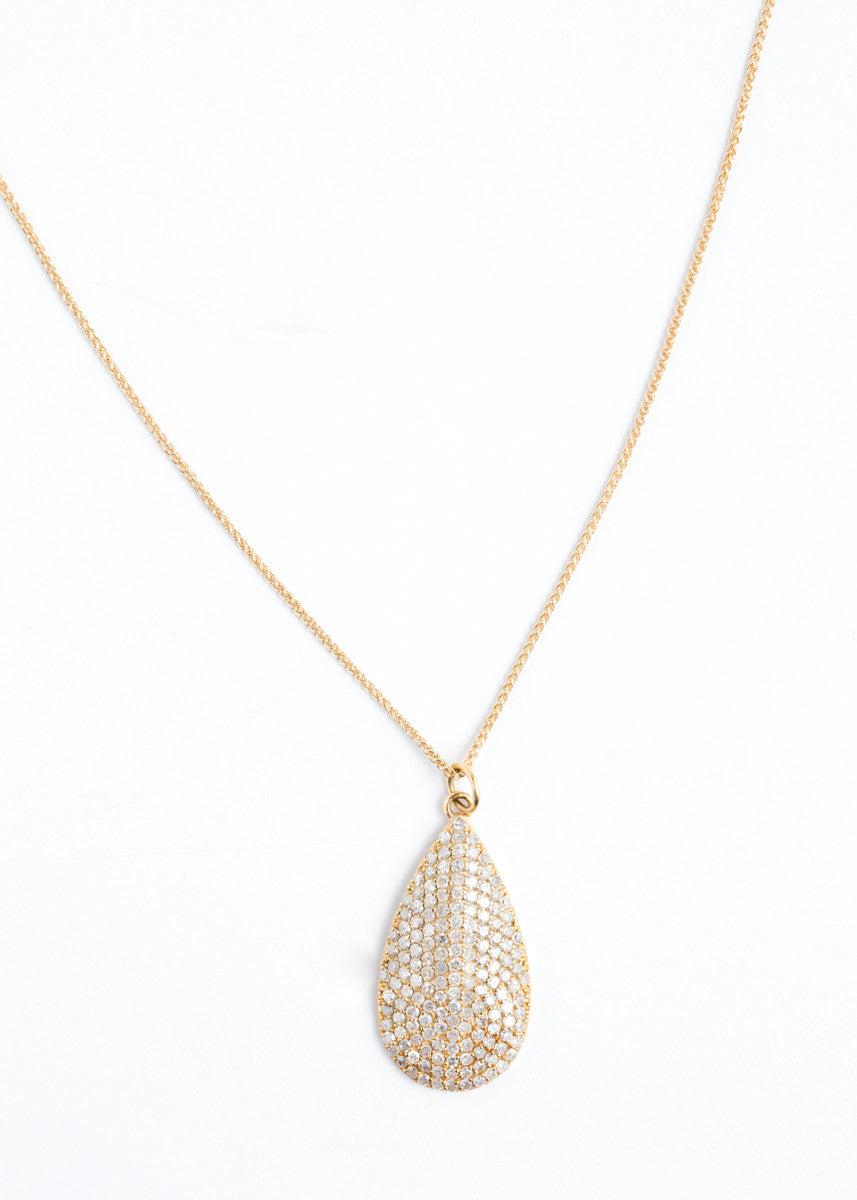 Lera Jewels yellow gold teardrop on chain necklace