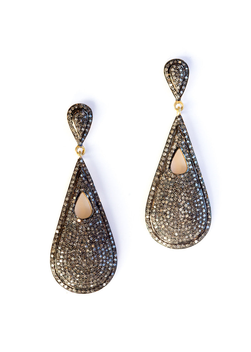 Vinesh diamond teardrop earrings