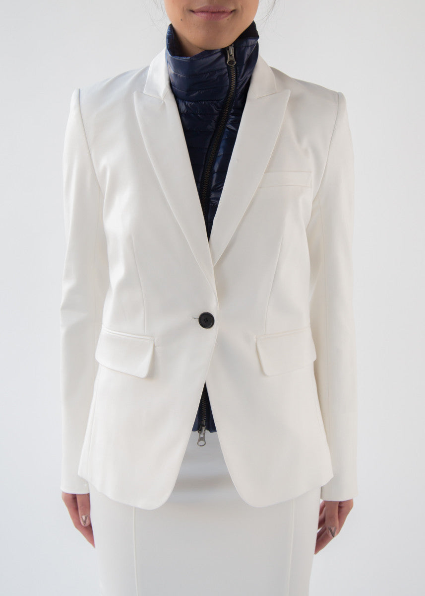 Veronica Beard white cutaway jacket