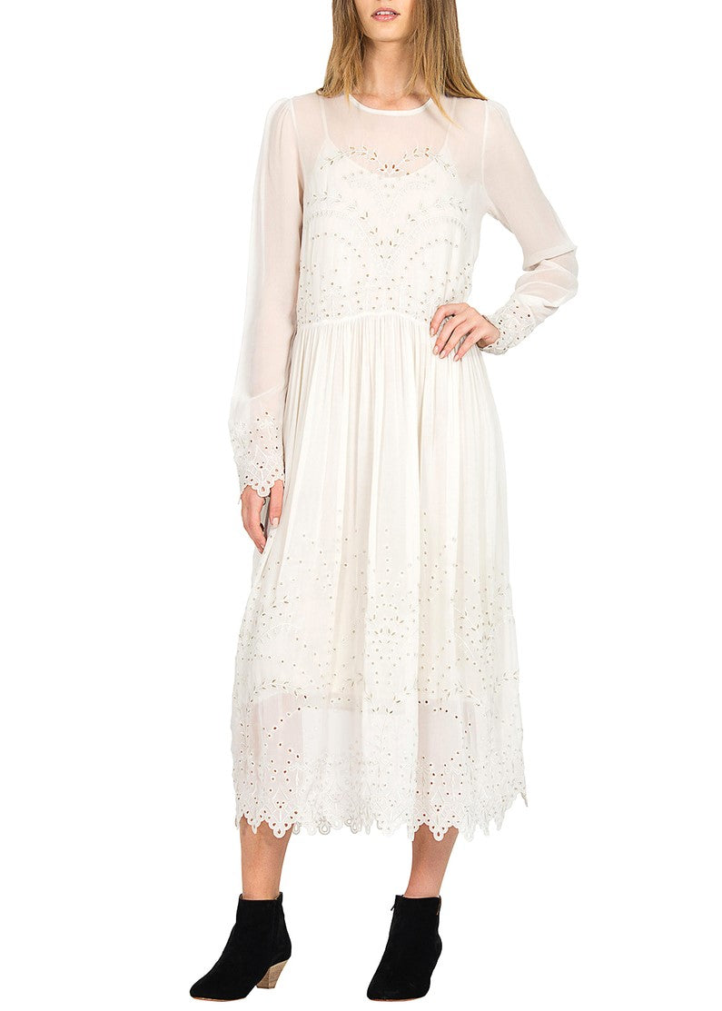 Magali Pascal harmony maxi dress dusty white