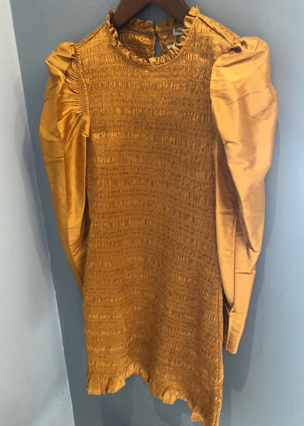 Ulla Johnson Aurele dress in mustard