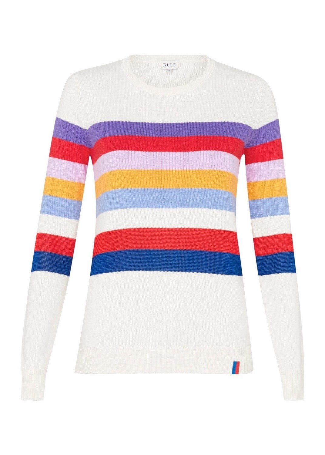 Kule The day trip sweater in cream multi stripes